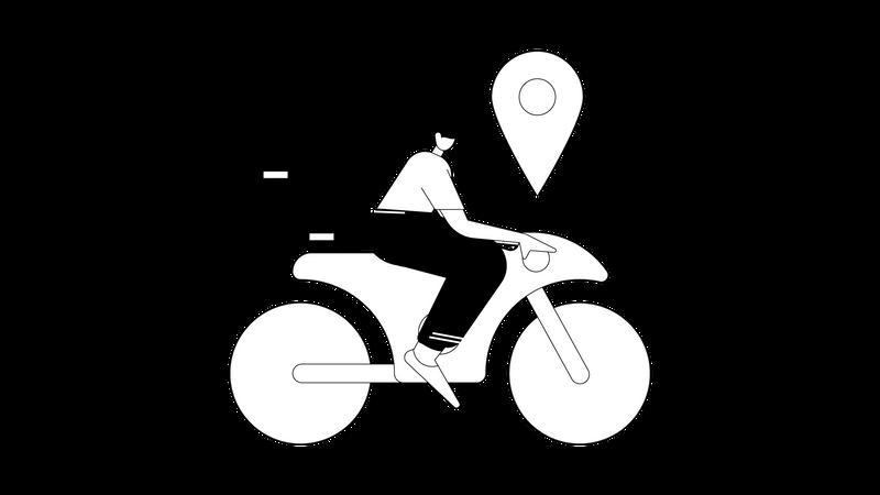Delivery man deliver parcel to delivery location Illustration