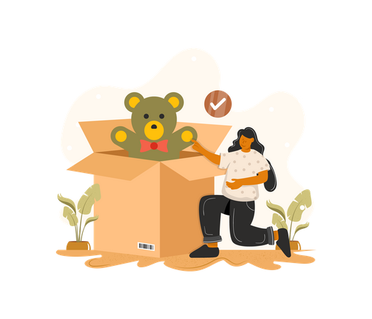 Delivery of product Illustration