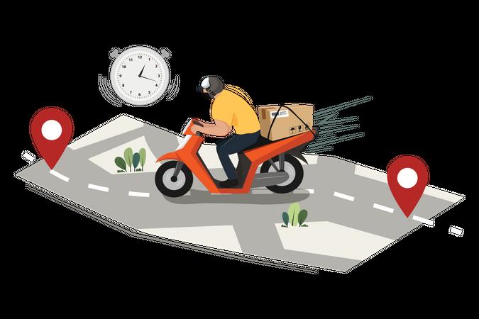 Delivery on Time Illustration