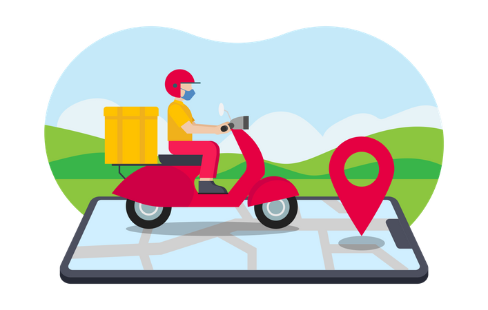 Delivery route Illustration