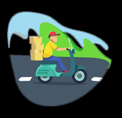 Delivery service Illustration