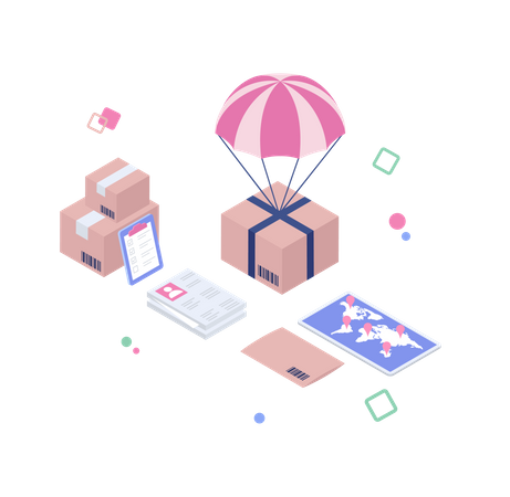 Delivery services Illustration