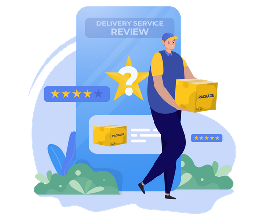 Delivery services review Illustration