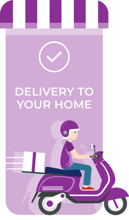 Delivery to your home Illustration