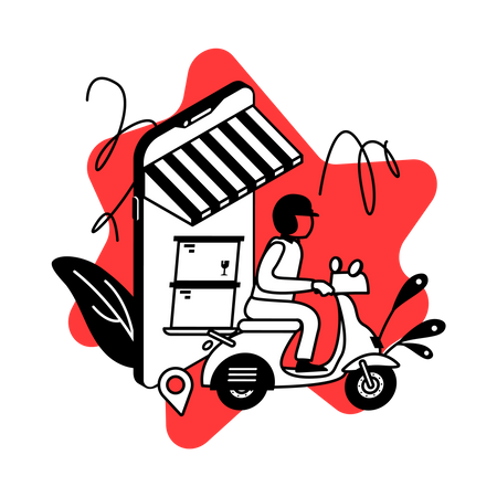 Delivery tracking app Illustration