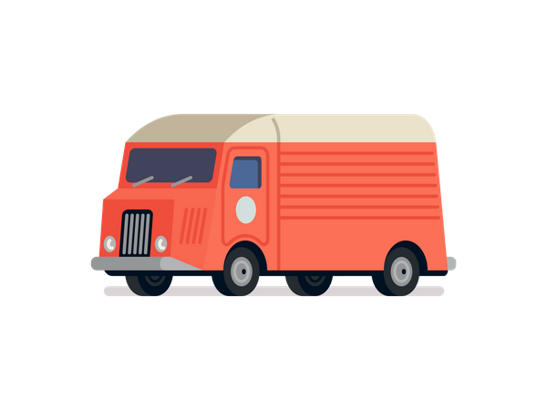 Delivery Truck Front Illustration