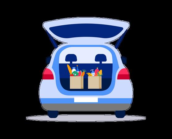 Delivery vehicle Illustration