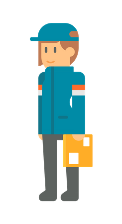 Delivery woman Illustration