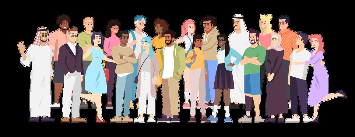 Demographic diversity Illustration