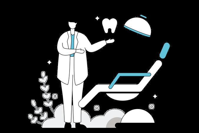 Dental Clinic Illustration