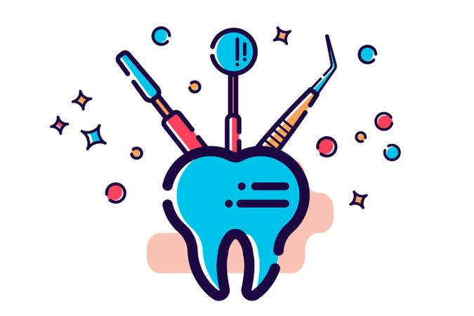 Dental Equipment Illustration