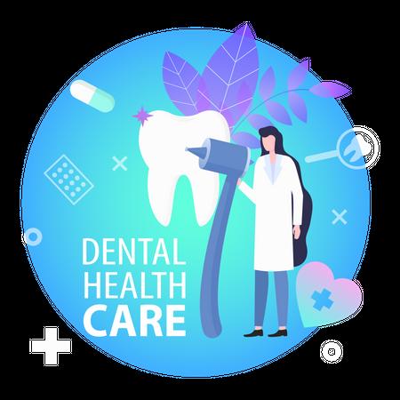 Dental health care Illustration
