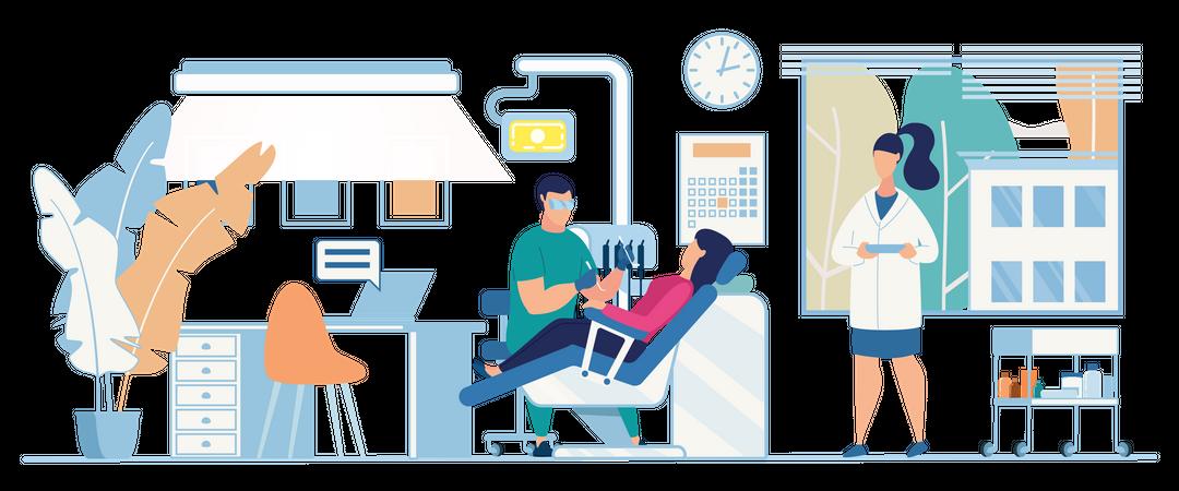 Dentist Cabinet Interior Illustration