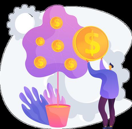 Deposit Withdrawal Illustration