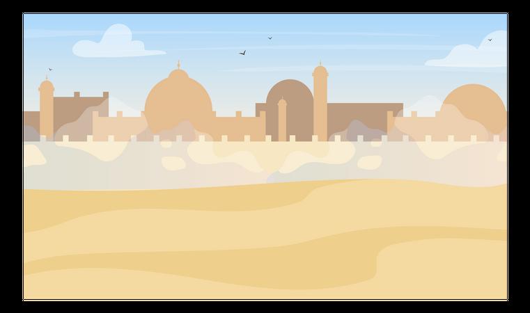 Desert town Illustration