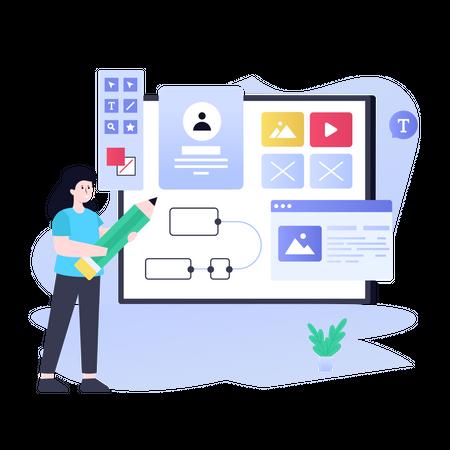 Design Application Illustration