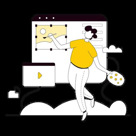 Design Ideas for Website building Illustration