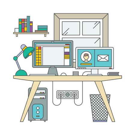 Designer Desk Illustration