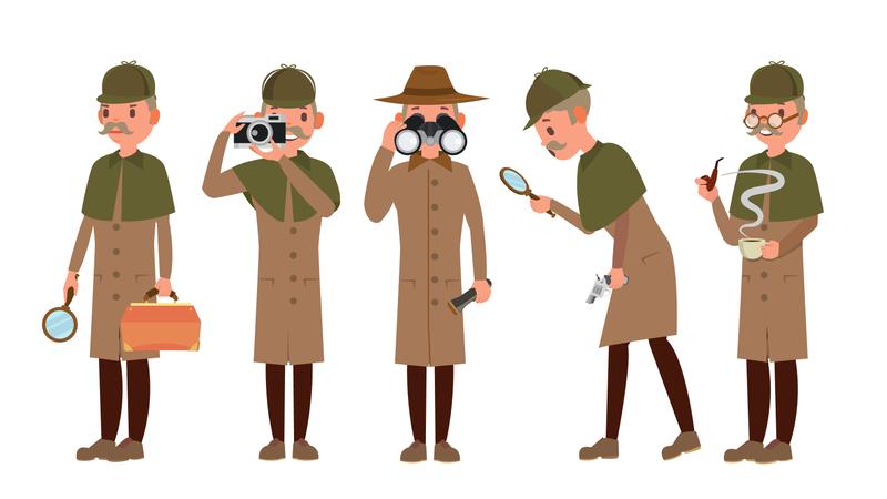 Detective Character Illustration