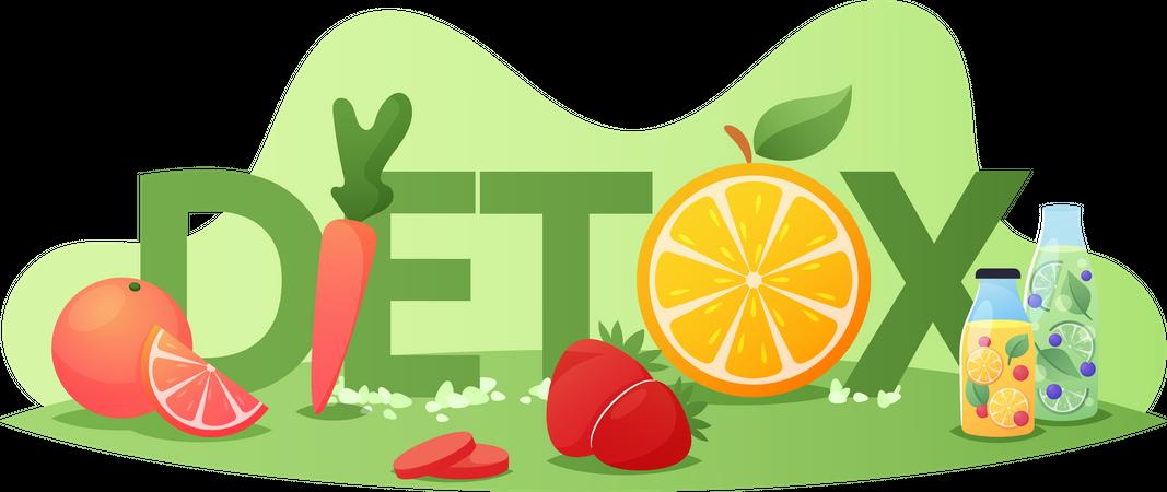Detox Diet Illustration