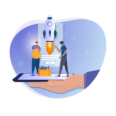 Developer updating system Illustration