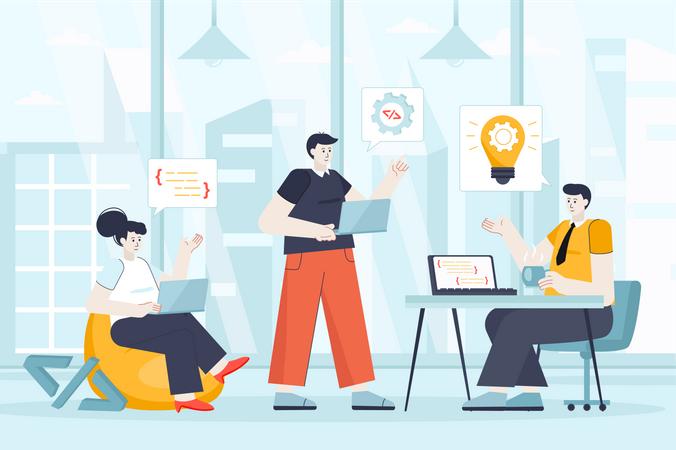 Developers team Illustration