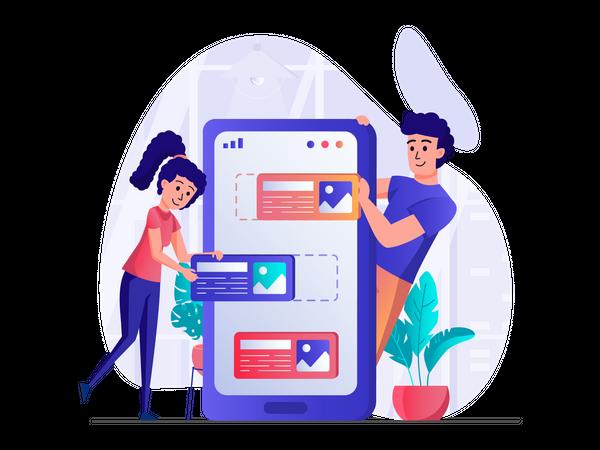 Developing user interface Illustration