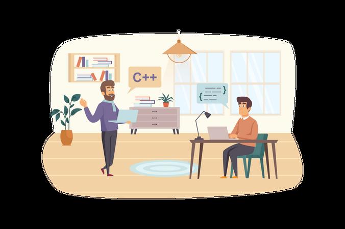 Development and testing software Illustration