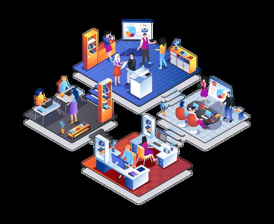 Development company Illustration