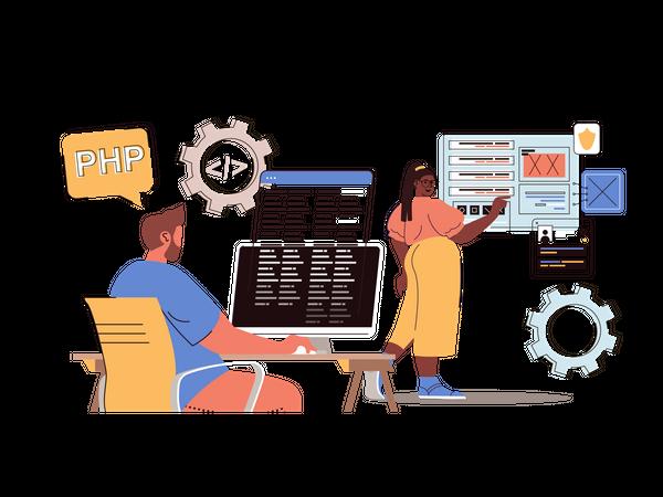 Development Team Illustration