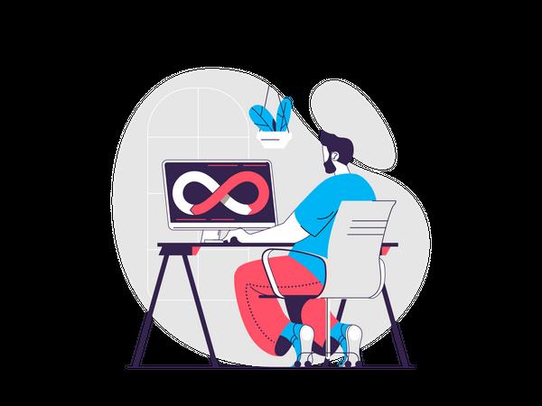 DevOps Development Illustration