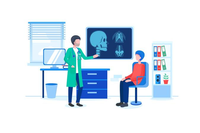 Diagnose patients health Illustration