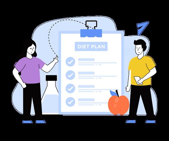 Diet Plan Illustration