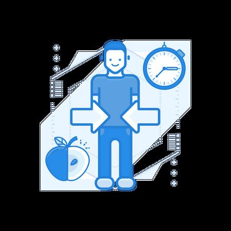 Diet Program Illustration