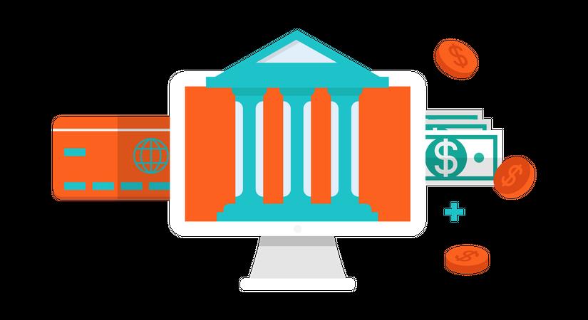 Digital banking Illustration