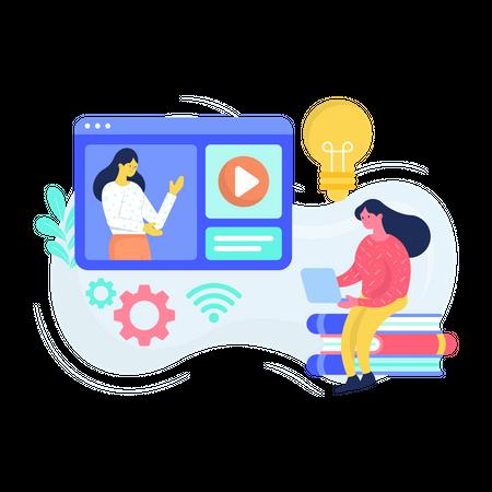 Digital Classroom Illustration