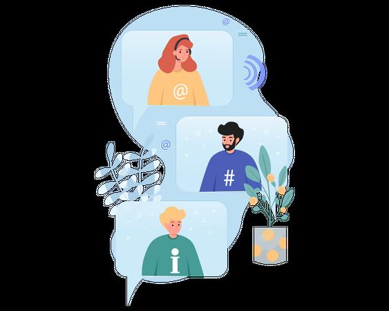 Digital Communication Illustration