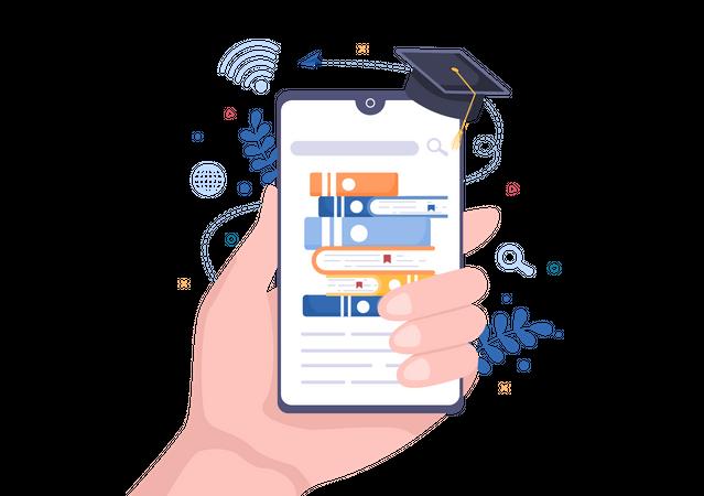Digital Education Illustration
