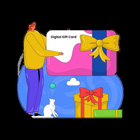 Digital Gift Card Illustration