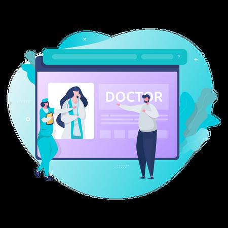 Digital health service Illustration
