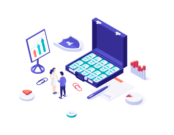 Digital Investment Illustration