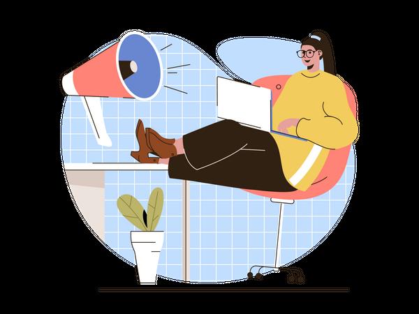 Digital Marketing Campaign Illustration