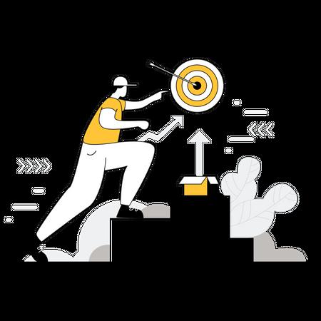 Digital marketing goal Illustration