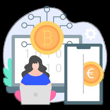 Digital Money Illustration