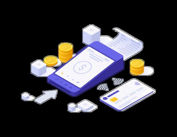 Digital payment Illustration