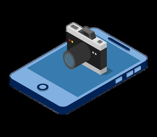 Digital phone Camera Illustration