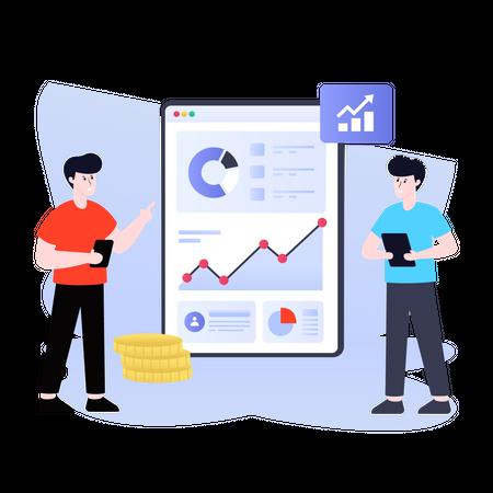 Digital Revenue Illustration