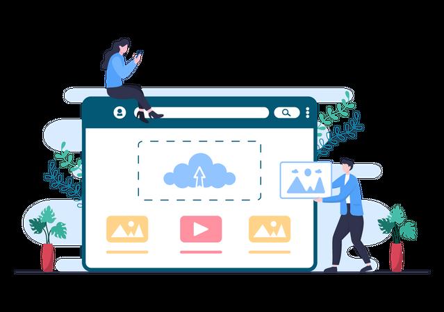 Digital storage Illustration