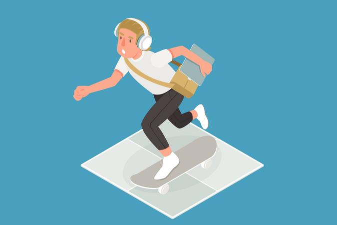 Digital Tech Boy Illustration