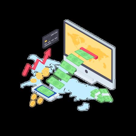 Digital Transaction Illustration